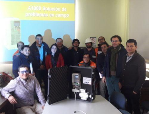 Capacitación en Sopladores Turbo de Namwon Turboone con variadores de frecuencia Yaskawa a importante empresa sanitaria Chile